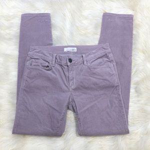 Loft Modern Skinny Purple Corduroy Pants 26/2